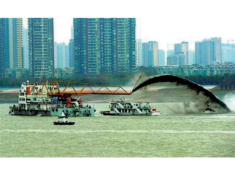 Macau channel dredging project